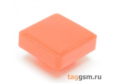 CTS-12S-04S / R Толкатель красный квадратный для тактовой кнопки 12х12 (10х10х3мм)