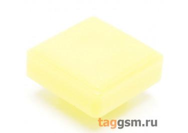 CTS-12S-04S / Y Толкатель желтый квадратный для тактовой кнопки 12х12 (10х10х3мм)