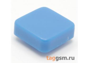 CTS-12S-05S / BL Толкатель синий квадратный для тактовой кнопки 12х12 (10Х10Х3мм)