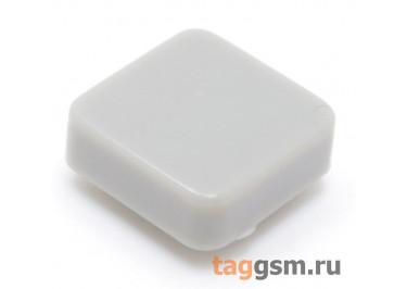 CTS-12S-05S / GR Толкатель серый квадратный для тактовой кнопки 12х12 (10Х10Х3мм)