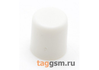 CTS-6O-01O / W Толкатель белый круглый для тактовой кнопки 6х6 (5,5х6,5мм)