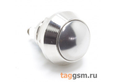 GQ-12B / N Антивандальная кнопка на панель с клеммными зажимами под винт, без фиксации OFF-(ON) SPST 250В 3А (12мм)
