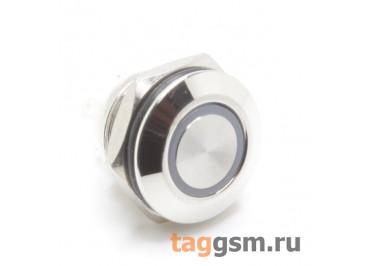 GQ-12F-10EM-EC-5V / BL Антивандальная кнопка на панель с подсветкой 5В синяя без фиксации OFF-(ON) SPST 250В 3А (12мм)