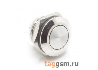 GQ-12FJ-EC Антивандальная кнопка на панель без фиксации OFF-(ON) SPST 250В 3А (12мм)