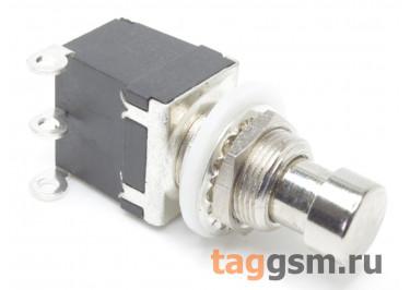 PBS-24-102 Кнопка на панель металлическая с фиксацией ON-ON SPDT 250В 2А (12мм)
