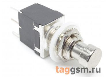 PBS-24-102P Кнопка на панель металлическая с фиксацией ON-ON SPDT 250В 2А (12мм)