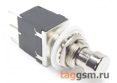 PBS-24-112P Кнопка на панель металлическая без фиксации ON-(ON) SPDT 250В 2А (12мм)
