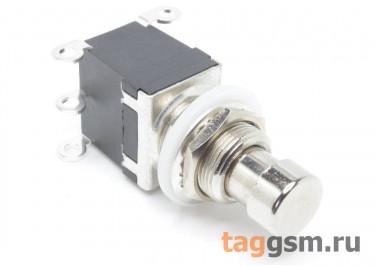 PBS-24-202 Кнопка на панель металлическая с фиксацией ON-ON DPDT 250В 2А (12мм)