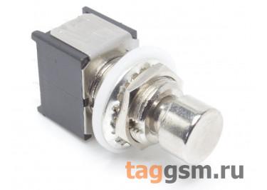 PBS-24-302SP Кнопка на панель металлическая с фиксацией ON-ON 3PDT 250В 2А (12мм)