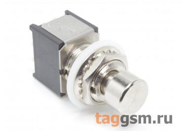 PBS-24-312SP Кнопка на панель металлическая без фиксации ON-(ON) 3PDT 250В 2А (12мм)