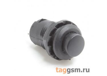DS-227 / B Кнопка на панель черная без фиксации OFF-(ON) SPST 250В 1,5А (12,4мм)