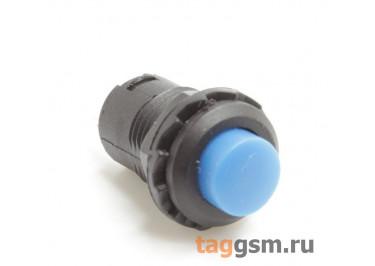 DS-227 / BL Кнопка на панель синяя без фиксации OFF-(ON) SPST 250В 1,5А (12,4мм)