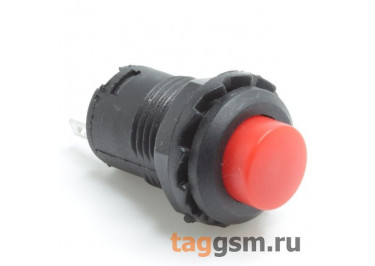 DS-227 / R Кнопка на панель красная без фиксации OFF-(ON) SPST 250В 1,5А (12,4мм)