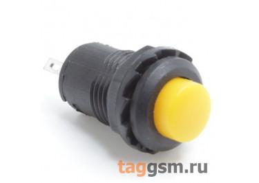 DS-227 / Y Кнопка на панель желтая без фиксации OFF-(ON) SPST 250В 1,5А (12,4мм)