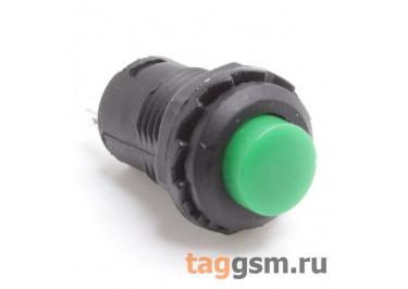 DS-228 / G Кнопка на панель зеленая с фиксацией ON-OFF SPST 250В 1,5А (12,4мм)