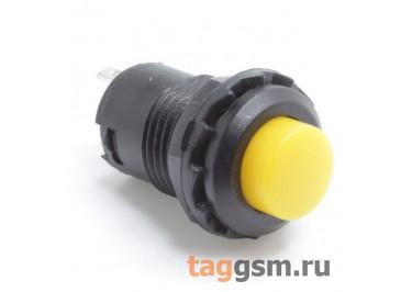 DS-228 / Y Кнопка на панель желтая с фиксацией ON-OFF SPST 250В 1,5А (12,4мм)