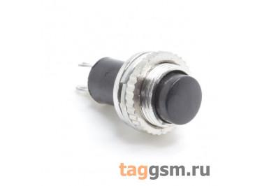 DS-314 / B Кнопка на панель черная без фиксации OFF-(ON) SPST 250В 0,5А (10мм)