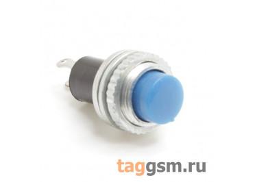 DS-314 / BL Кнопка на панель синяя без фиксации OFF-(ON) SPST 250В 0,5А (10мм)