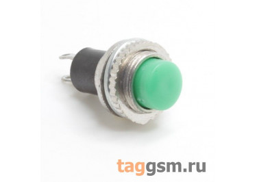 DS-314 / G Кнопка на панель зеленая без фиксации OFF-(ON) SPST 250В 0,5А (10мм)