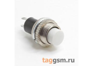 DS-314 / W Кнопка на панель белая без фиксации OFF-(ON) SPST 250В 0,5А (10мм)