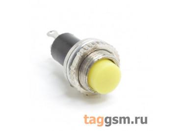 DS-314 / Y Кнопка на панель желтая без фиксации OFF-(ON) SPST 250В 0,5А (10мм)