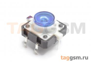 TSL-012 / BL Кнопка тактовая синяя с подсветкой 2-3В 12х12мм h=7,2мм 6 конт. SPST-NO (7мм)