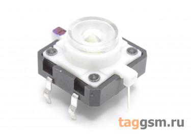 TSL-012 / W Кнопка тактовая белая с подсветкой 2-3В 12х12мм h=7,2мм 6 конт. SPST-NO (7мм)