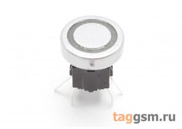 TSL-A061-7L2 / BL Кнопка тактовая серебристая с подсветкой 2-3В синяя 6х6мм h=9мм 6 конт. SPST-NO (10мм)