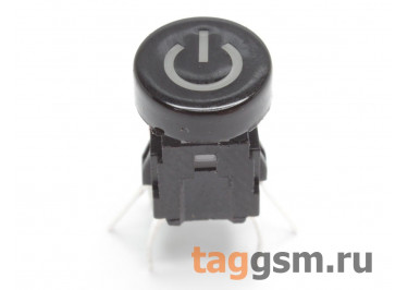 TSL-A061-DL1 / R Кнопка тактовая черная с подсветкой 2-3В красная 6х6мм h=9мм 6 конт. SPST-NO (7,5мм)