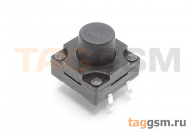 WS-012-10 Кнопка тактовая влагозащищенная 12х12мм h=10мм 4 конт. SPST-NO