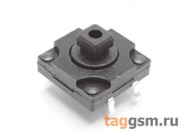 WS-012-7.3F Кнопка тактовая влагозащищенная под толкатель 12х12мм h=7,3мм 4 конт. SPST-NO