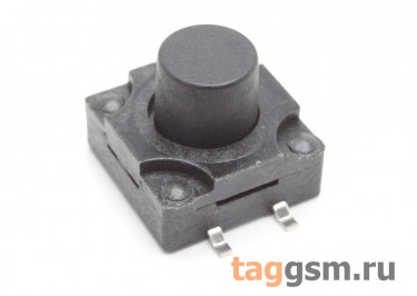 WS-012A-10 Кнопка тактовая влагозащищенная SMD 12х12мм h=10мм 4 конт. SPST-NO
