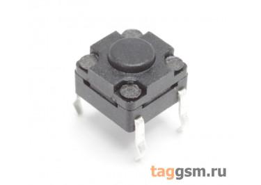 WS-A06-4.3 Кнопка тактовая влагозащищенная 6х6мм h=4,3мм 4 конт. SPST-NO