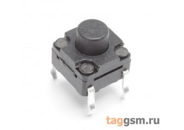 WS-A06-6.0 Кнопка тактовая влагозащищенная 6х6мм h=6мм 4 конт. SPST-NO