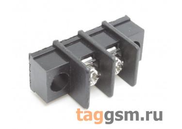 LF411SM-7.62-02P [LF25SM] (Черный) Барьерный клеммник на плату 2 конт. шаг 7,62мм 300В 20А