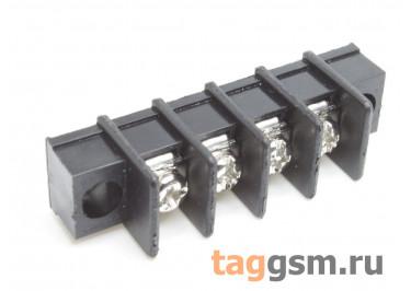 LF411SM-7.62-04P [LF25SM] (Черный) Барьерный клеммник на плату 4 конт. шаг 7,62мм 300В 20А
