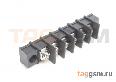 LF411SM-7.62-06P [LF25SM] (Черный) Барьерный клеммник на плату 6 конт. шаг 7,62мм 300В 20А