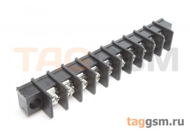 LF411SM-7.62-10P [LF25SM] (Черный) Барьерный клеммник на плату 10 конт. шаг 7,62мм 300В 20А