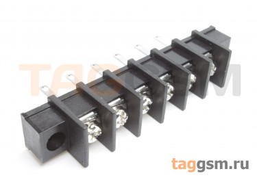 LF413HM-10.0-06P [LF55HM] (Черный) Барьерный клеммник монтажный 6 конт. шаг 10мм 300В 30А