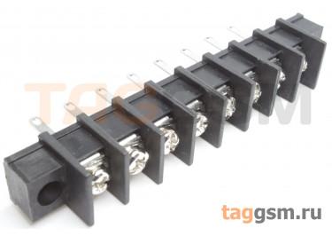 LF413HM-10.0-08P [LF55HM] (Черный) Барьерный клеммник монтажный 8 конт. шаг 10мм 300В 30А
