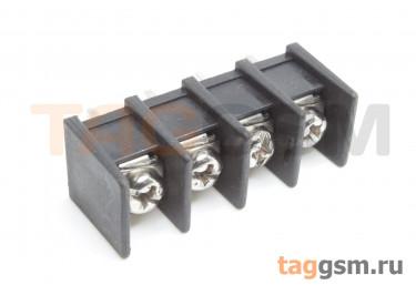 LF413S-10.0-04P [LF55S] (Черный) Барьерный клеммник на плату 4 конт. шаг 10мм 300В 30А