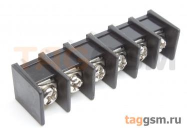 LF413S-10.0-06P [LF55S] (Черный) Барьерный клеммник на плату 6 конт. шаг 10мм 300В 30А