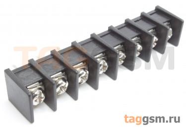 LF413S-10.0-08P [LF55S] (Черный) Барьерный клеммник на плату 8 конт. шаг 10мм 300В 30А