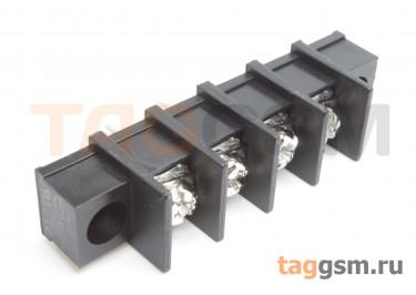 LF413SM-10.0-04P [LF55SM] (Черный) Барьерный клеммник на плату 4 конт. шаг 10мм 300В 30А