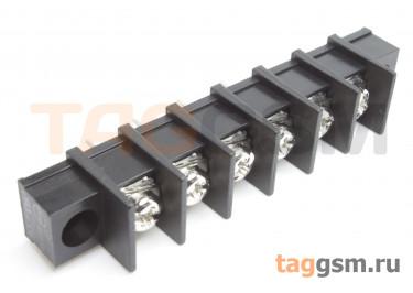 LF413SM-10.0-06P [LF55SM] (Черный) Барьерный клеммник на плату 6 конт. шаг 10мм 300В 30А