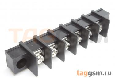 LF413SM-11.0-06P [LF65SM] (Черный) Барьерный клеммник на плату 6 конт. шаг 11мм 300В 30А