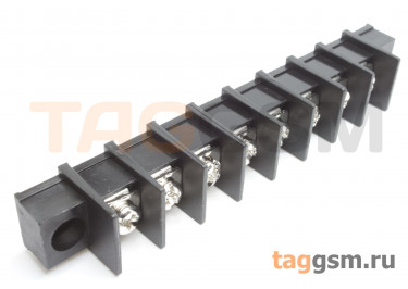 LF413SM-11.0-08P [LF65SM] (Черный) Барьерный клеммник на плату 8 конт. шаг 11мм 300В 30А