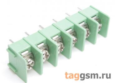 LF421SP-7.62-06P [LF7620] (Зеленый) Барьерный клеммник на плату 6 конт. шаг 7,62мм 300В 20А
