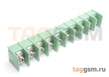 LF421SP-7.62-10P [LF7620] (Зеленый) Барьерный клеммник на плату 10 конт. шаг 7,62мм 300В 20А