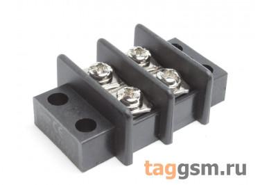 LF69-11.0-02P (Черный) Барьерный клеммник монтажный 2 конт. шаг 10мм 750В 25А